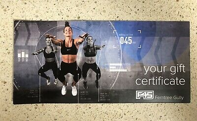 F45 gift certificate
