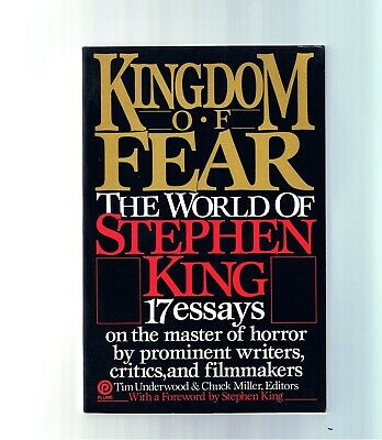 VINTAGE STEPHEN KING ~ KINGDOM OF FEAR ~ 1st PLUME ED.~ EX.COND