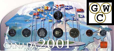 2001 RCM Map Set of Proof-Like Coins (11835)