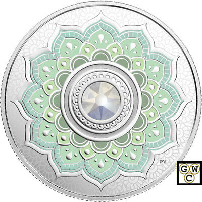2018 'October -Birthstones' Crystal Prf $5 Silver Coin 1/4oz .9999 Fine(18578)NT