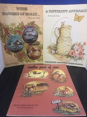 Tole Painting Book Lot of 3 books by Georgia Feazle