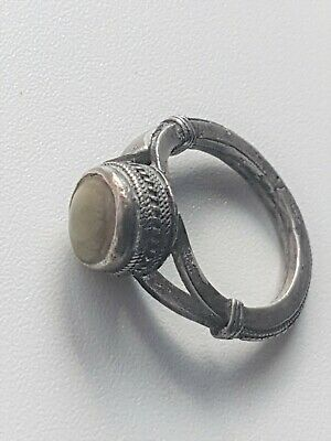Antique Silver Yemeni Bedouin Ring With old Agate Stone