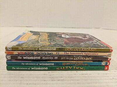 Lot of 5 Wishbone Childrens Chapter Books ~ Adventures, Mysteries & Classics
