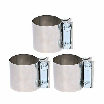 """Stainless Lap Joint Clamp Sleeve Band For Honda Acura 2.25/"""" 2 1//4/"""" Exhaust Pipe"""