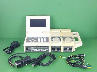 Ultrasound Medi-Link Model 70 Control Module System Physiotherapy+Probes