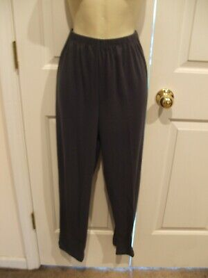 new in pkg steel blue PULL ON cotton blend pants Made in USA   size  SMALL