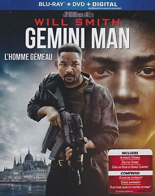 GEMINI MAN BLURAY & DVD SET with Will Smith & Clive Owen & Benedict Wong