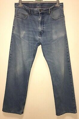 "Marks And Spencer Premium Cotton Stonewashed Denim Jeans. 36""W x 29""L. Blue. VGC"