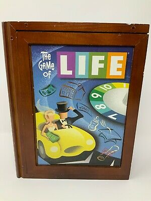 MB The Game Of Life Milton Bradley Vintage Collection Wooden Box Bookshelf Game