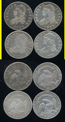 Lot Of 4 Capped Bust Half Dollars- 1812-1813-1818-1833- Scarce- No Reserve