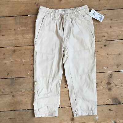 Oshkosh B'gosh Boys Camel Trousers Age 2 BNWT New