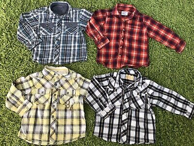 Boys Long Sleeve Shirts 2-3 Years Bundle (Next, Matalan, Mothercare)