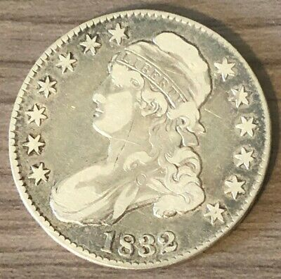 1832 Capped Bust Half Dollar ~ F Condition ~Small Letters