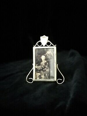 Pretty, Miniature Arts And Crafts Brass Photo Frame
