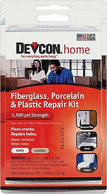Devcon Epoxy Bathtub Repair Kit (Almond & White) 1 Pack, Almond