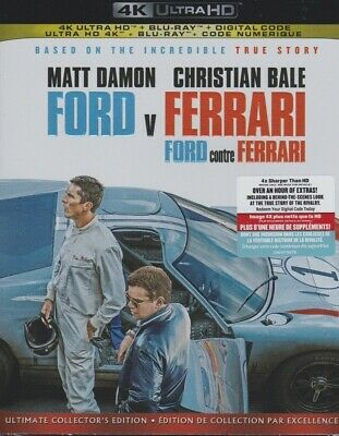 FORD V FERRARI 4K ULTRA HD & BLURAY & DIGITAL SET with Matt Damon & Josh Lucas