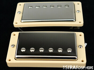 USA Gibson Les Paul Tribute 490R 490T Humbucker PICKUP SET Nickel Quick Connect