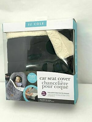 JJ Cole Car Seat Cover - Black And Sherpa Blanket Style Machine Washable 1C2