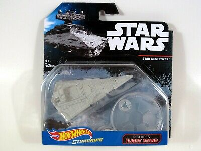 Hot Wheels Star Wars STAR DESTROYER Die-cast Starships with Flight Stand