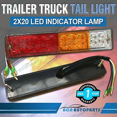 Pair Trailer Lights 20 Led Stop Tail Indicator Reflector Truck Camper Pickup Ute