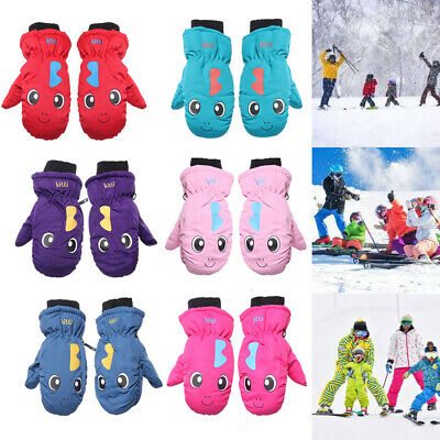 Kids Children Ski Gloves Outdoor Riding Snow Snowboard Long-sleeved Mitten