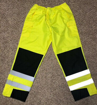 PIP 318-1771-LY/L High Visibility Yellow Pants Rio Stop Class E ANSI 107-2015