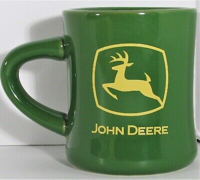 John Deere Logo Licensed Product Green Double Sided Coffee Tea Hot Beverage Mug