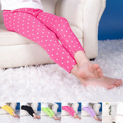 Toddler Girls Slim Fit Pants Casual Stretchy Leggings Polka Dots Tight Trousers