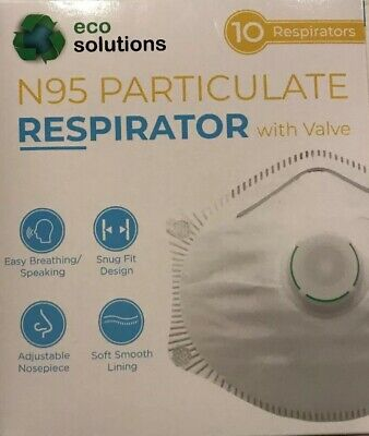 Eco Solutions N95 Mask Particulate Respirator 10 pk  Protection  Prepper Global