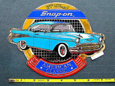 """""""Snap-On 1957 Chevy"""" Original Racing Sticker Decal ** NHRA U.S. NATIONALS INDY"""