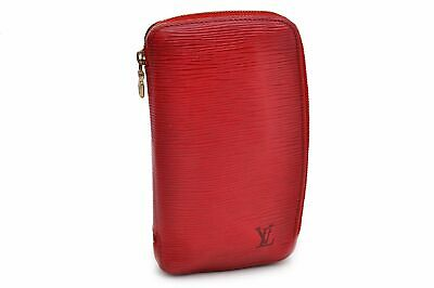 Authentic Louis Vuitton Epi Agenda Geode Purse Travel Case Wallet Red LV 91346