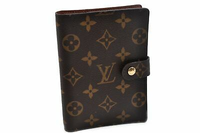 Authentic Louis Vuitton Monogram Agenda PM Day Planner Cover R20005 LV 91474