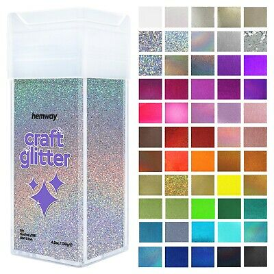 "Microfine Craft Glitter Shaker Hemway - Candle Wax Melts Glass Art 1/256"" 0.1MM"