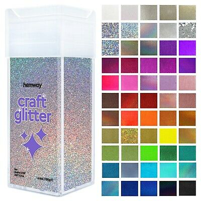 "UltraFine Craft Glitter Shaker Hemway -Candle Wax Melts Glass 1/128"" .008"" 0.2MM"