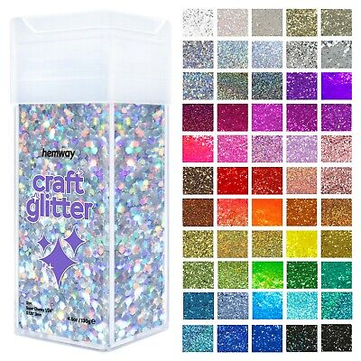 "Super Chunky Craft Glitter Shaker Hemway - Candle Art Wax Glass Wine - 1/8""  3MM"