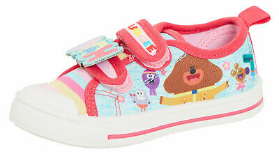 Girls Hey Duggee Canvas Pumps Kids Easy Touch Casual Sports Trainers Plimsolls