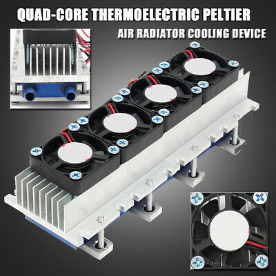 4 Chip TEC1-12706 Thermoelectric Peltier Air Radiator Refrigeration Cooler