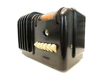 VINTAGE 1930s OLD AIRLINE MACHINE AGE ART DECO ANTIQUE BROWN BAKELITE RADIO