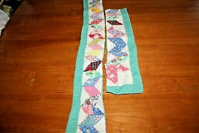 Cutter Quilt Two Diamond Pieced Border Patchwork for Craft Projects Pieces 4X47