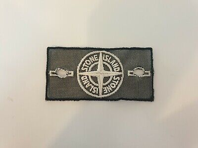 Limited Edition Stone Island Black White Mesh Badge