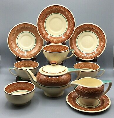 SUSIE COOPER ART DECO TEA SET CIRCA 1930s