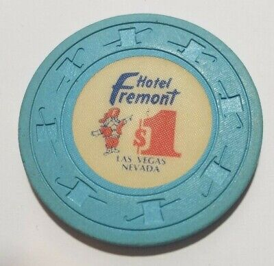Scarce 1980s $1 chip from Fremont casino in downtown Las Vegas