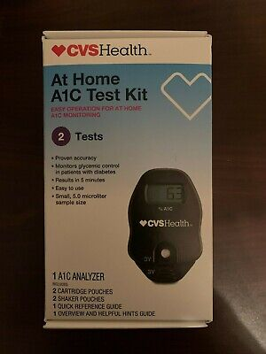 CVS Health At Home A1C Test Kit - 2 Tests - Brand New