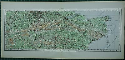 1922 Large Map ~ Surrey Kent Guildford Maidstone Gravesend Canterbury