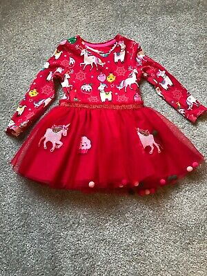 Girl Red Christmas Dress F&F Size 2-3 Years Only Worn Once. Excellent Condition