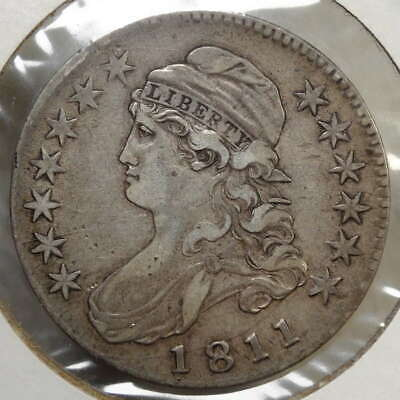 1811 Capped Bust Half Dollar, Large 8, Overton-104, Very Fine+  0214-22