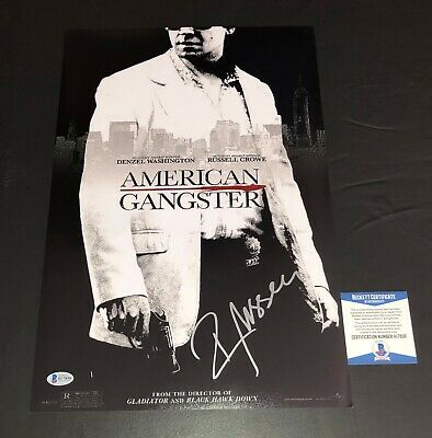 Russell Crowe Signed American Gangster 12X18 Poster Autograph Beckett Bas Coa