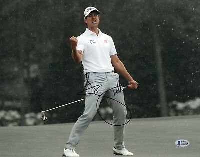 2013 Masters Champ Adam Scott Signed Auto 11X14 Photo Pga Tour Bas Beckett Coa