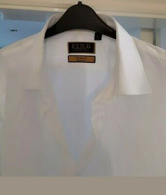 "Thomas Pink ""The Imperial"" White 170s Cotton Shirt. Size 18 Collar, 36"" sleeves"