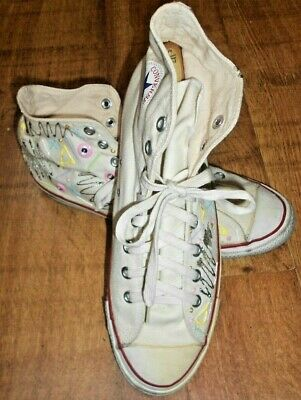 Vintage White Converse All Star Made in USA size 11 US size 10 UK